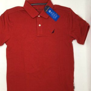 Nautica Big Boys' Pique Polo Red, M, 10-12